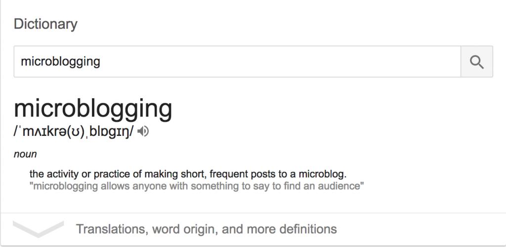 microblogging definition
